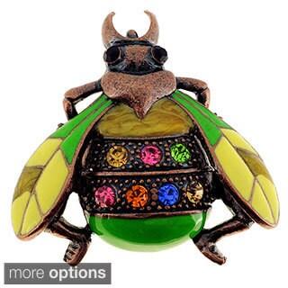 Crystal Lady Bug Pin Brooch