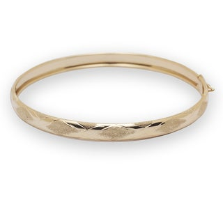 10k Yellow Gold Flexible Bangle Bracelet
