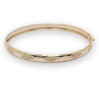 10k Yellow Gold Flexible Bangle Bracelet