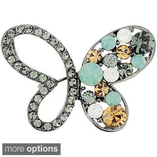 Multicolor Butterfly Crystal Pin Brooch and Pendant