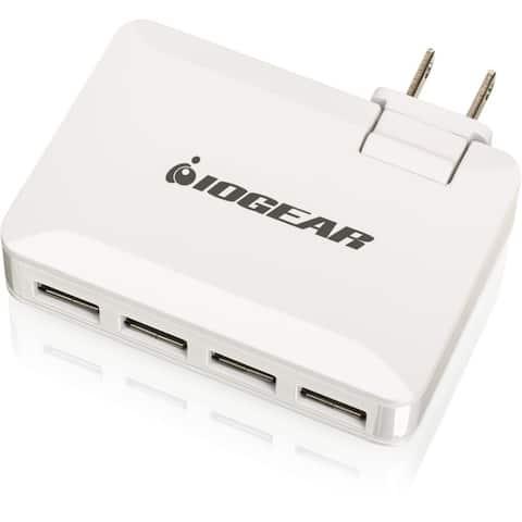 IOGEAR GearPower QuadSmart USB 4.2A Wall Charger