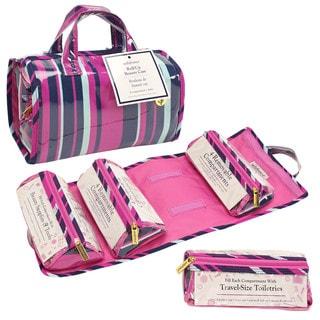 SedaFrance Mardi Gras Stripe 4-Compartment Travel Roll-Up Bag