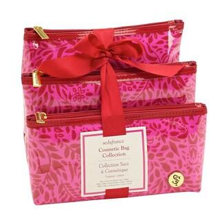 SedaFrance Molee Valentine Three-Piece Cosmetic Bag Set