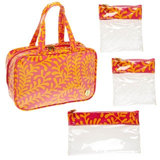 SedaFrance Fern Tropics MJ Removable Compartments Cosmetic Bag