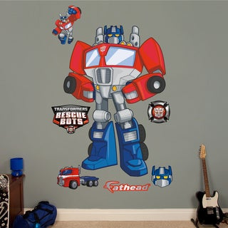 Fathead Transformers Rescue Bots Optimus Prime Wall Decals
