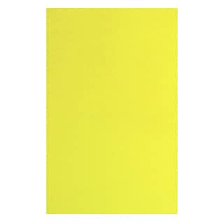 Solid Yellow Area Area Rug (3'3 x 4'8)