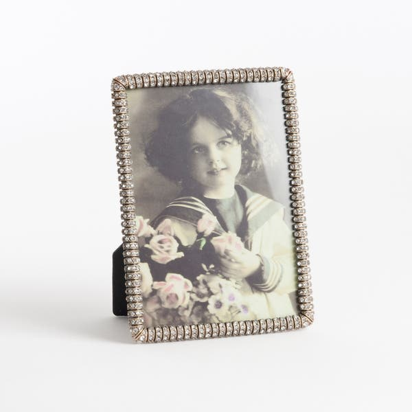 Vintage Rhinestone Jeweled Photo Frame On Sale Overstock 9601437