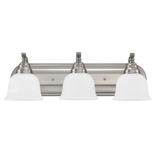 Sea Gull Wheaton 3-light Brushed Nickel Wall/ Bath Fixture