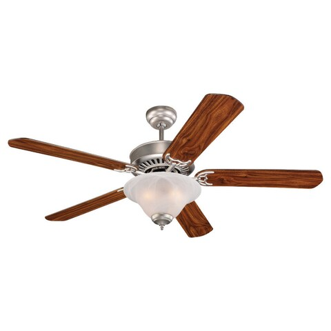 """52"""" Quality Pro Deluxe Fan, Brushed Pewter Finish"""