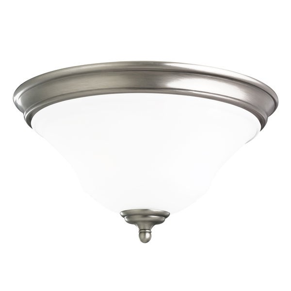 Sea Gull Parkview 2-light Antique Brushed Nickel Flushmount