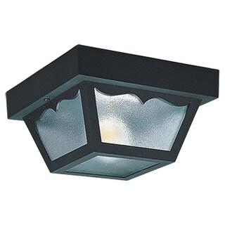 2-light Outdoor Black Ceiling Fixture