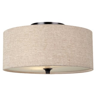 Two-light Ceiling Flush Mount Fixture