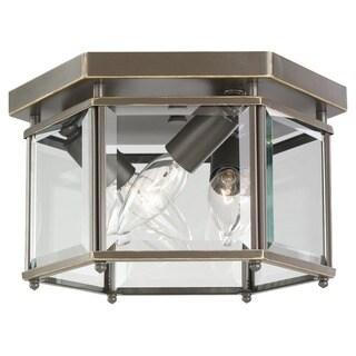 Sea Gull Bretton 3-light Heirloom Bronze Flushmount