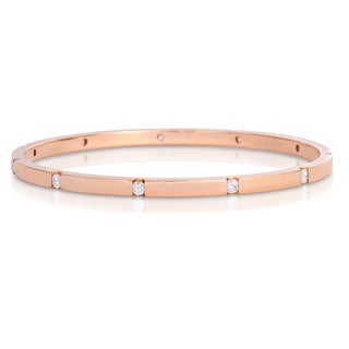 Eloquence 14k RoseGold 1ct TWD Eternity Diamond Bangle Bracelet (H-I, I1-I2)