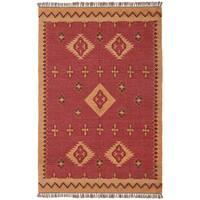 Woven Antiquity Jute Wool Flat Weave Rug - 10'x14'