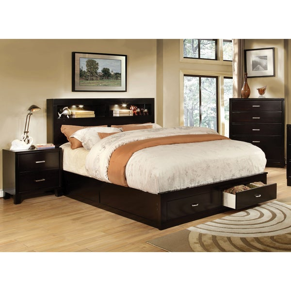 Furniture Of America Clement 3 Piece Storage Bedroom Set With Lighting Free Shipping Today