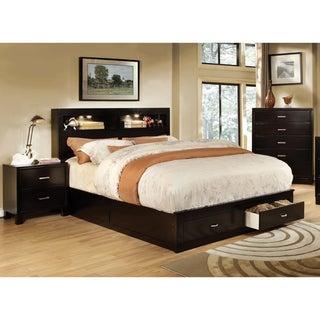 Furniture Of America Clement 3 Piece Storage Bedroom Set With Lighting  (Option: Queen