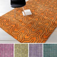 Hand-knotted Bridport Contemporary Wool Area Rug