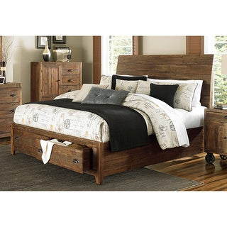 magnussen b2375 river ridge wood island bed w storage