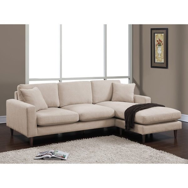 Shaffer Buff Fabric Two piece Sectional Sofa Free Shipping Today