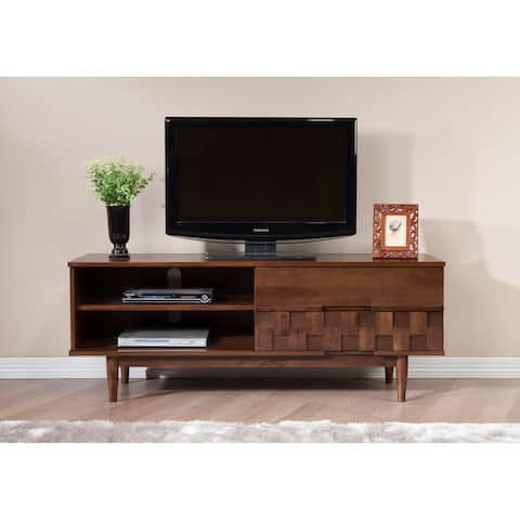 Carson Carrington Tessuto Tobacco Finish 59-inch Entertainment Center