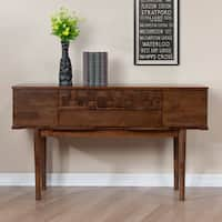 Jasper Laine Tessuto Tobacco Finish 4-drawer Sofa Table