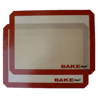 Bake Magic Silicone Reusable Non-Stick 15 3/4 x 11 3/4-inch Baking Mat (Set of 2)