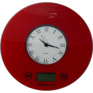 Digital Kitchen Scale with Quartz Clock