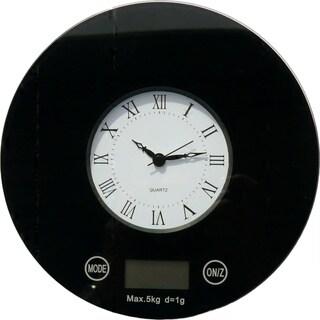 iFresh Digital Kitchen Scale with Quartz Clock