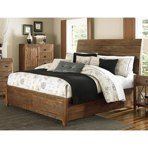Magnussen river ridge wood island bed free shipping for Today s home furniture