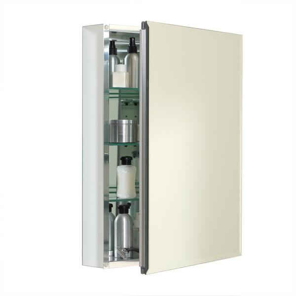 Zenith Frameless Aluminum Medicine Cabinet - Free Shipping Today ...