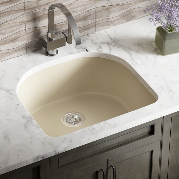 Delightful 824 D Bowl Composite Granite Kitchen Sink   Free Shipping Today    Overstock.com   16788558