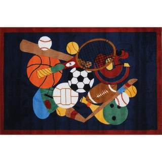 Sports America Blue Nylon Area Rug (3'3 x 4'8)