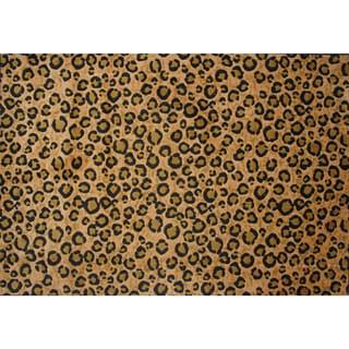 Leopard Skin Brown Nylon Area Rug (3'3 x 4'8)