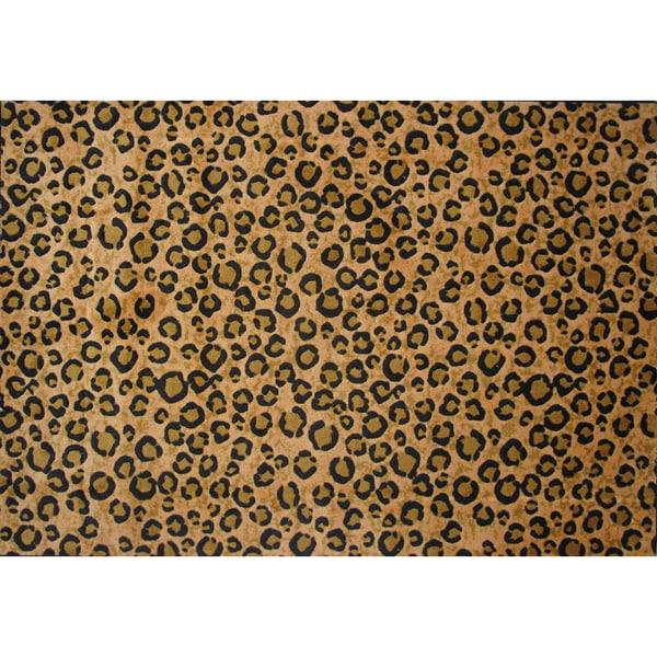 Shop Leopard Print Brown Area Rug 5 X 7 3 Free