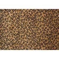 Leopard Print Brown Area Rug - 5' x 7'3