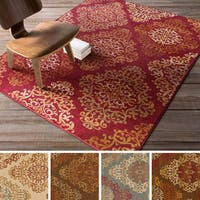 Artfully Crafted Arlesey Damask Area Rug - 7'10 x 9'10