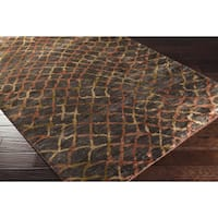 Hand-Knotted Tristan Viscose Area Rug - 5' x 8'
