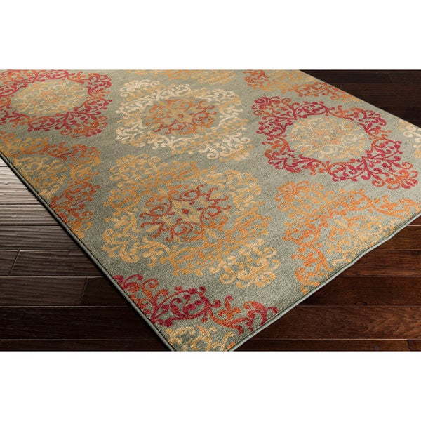 Artfully Crafted Arlesey Damask Area Rug