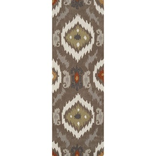 Artfully Crafted Rawlins Ikat Polyester Area Rug-(2'6 x 8')