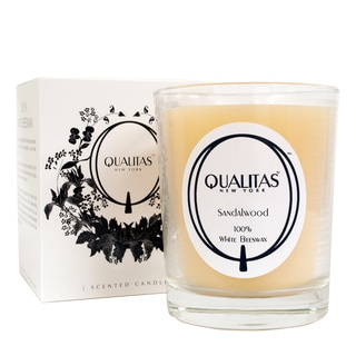 Qualitas 100-percent USP Pharmaceutical White Beeswax Sandalwood Candle
