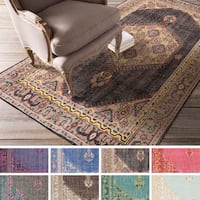 Hand-knotted Alford Traditional Wool Area Rug (5'6 x 8'6)