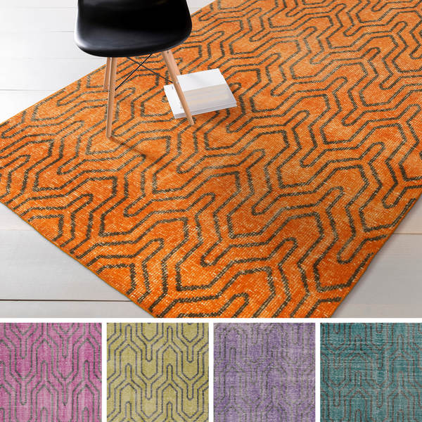 Hand Knotted Bridport Contemporary Wool Area Rug