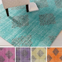Hand-knotted Crediton Contemporary Wool Area Rug (5'6 x 8'6)