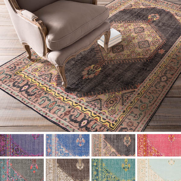 hand-knotted alford traditional wool rug (8' x 11') - free