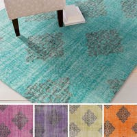 Hand-knotted Crediton Contemporary Wool Area Rug