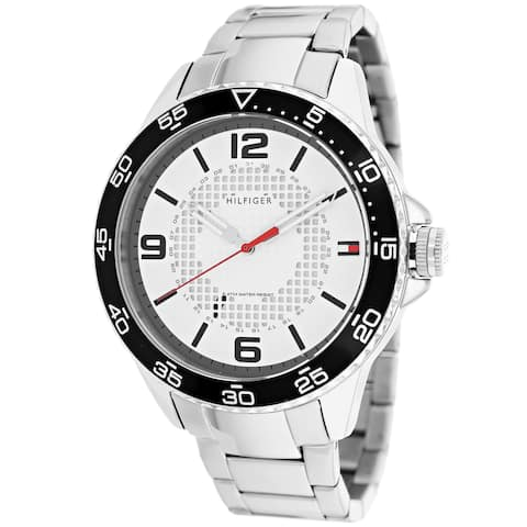 c5791704 Tommy Hilfiger Men's 1790838 Sport White Dial Stainless Steel Watch