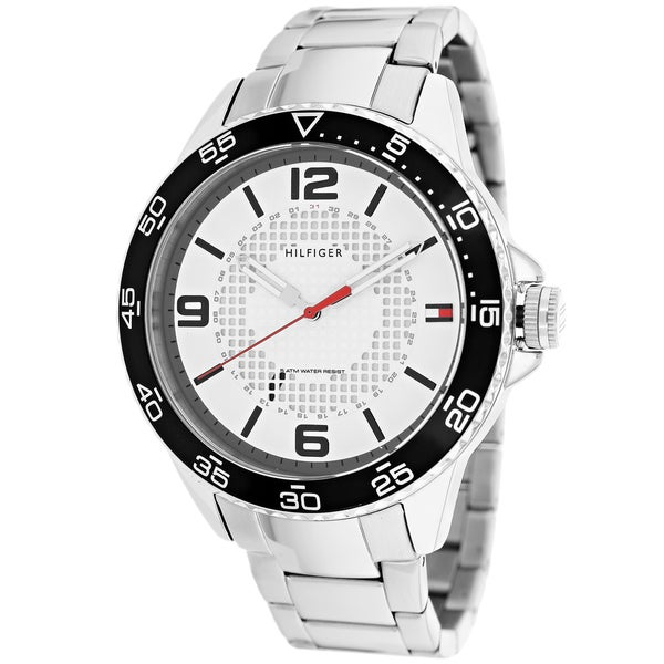 948b4a823 Shop Tommy Hilfiger Men's 1790838 Sport White Dial Stainless Steel Watch -  Free Shipping Today - Overstock - 9602356