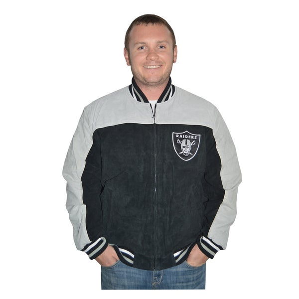 f85bd2d8b Oakland Raiders NFL Suede Leather Jacket