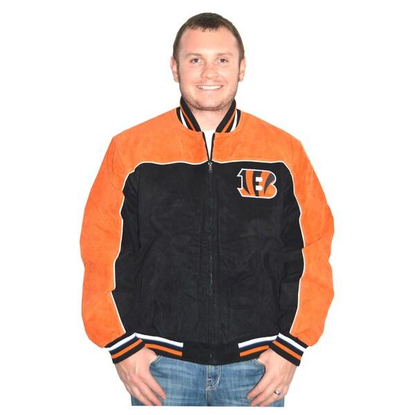 Cincinnati Bengals NFL Suede Leather Jacket
